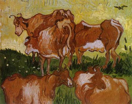Cows (after Jordaens),Auvers sur Oise: July, 1890