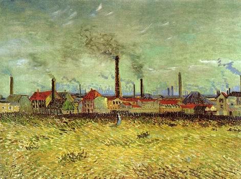Factories at Asnieres Seen from the Quai de Clichy, Paris: Summer, 1887