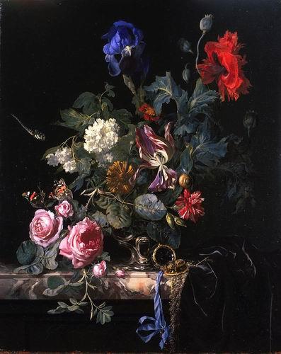 Flowers in Silver Vase, 1663