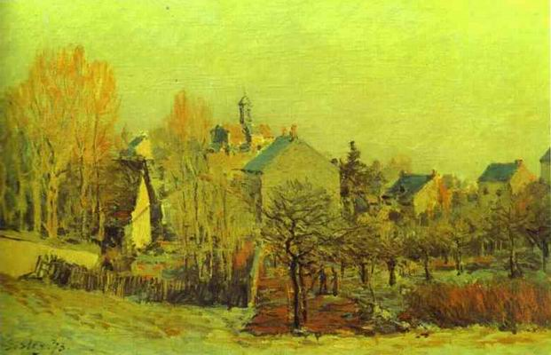 Frost in Louveciennes. 1873