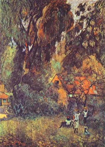 Huts under Trees.1887