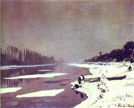 Ice on the Seine near Bougival. 1867