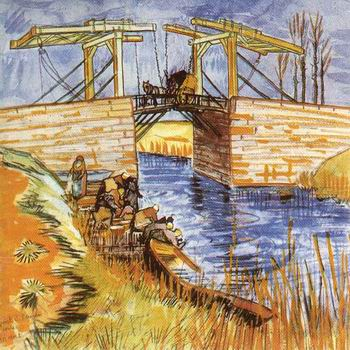 Langlois Bridge at Arles with Women Washing, The ,Arles: March, 1888