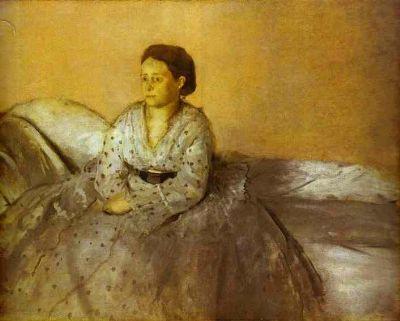Portrait of Estelle Musson, Madame Rene de Gas