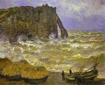 Rough Sea at Etretat. 1883