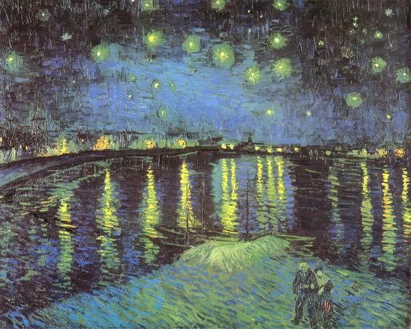 Starry Night over the Rhone, Arles: September, 1888