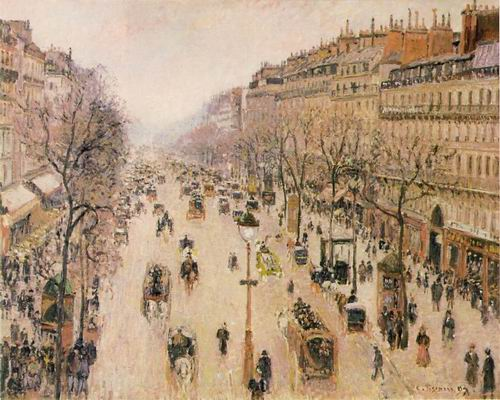 The Boulevard Montmartre on a Cloudy Morning. 1897