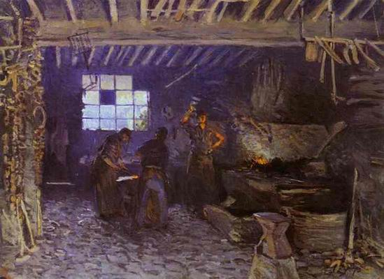 The Forge at Marly le Roi (Yvelines). 1875.