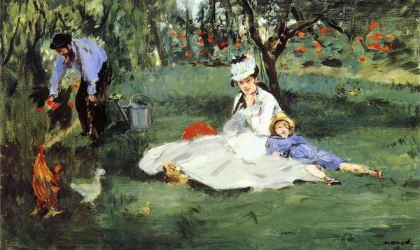 The Monet Family In Their Garder, 1874