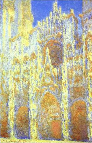 The Rouen Cathedral. Portail. The Albaine Tower. 1893 1894.
