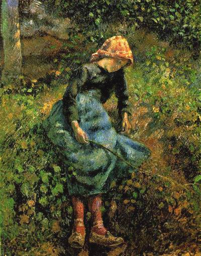 The Shepherdess (Young Peasant Girl with a Stick),1881