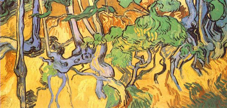 Tree Roots and Trunks,Auvers sur Oise: July, 1890