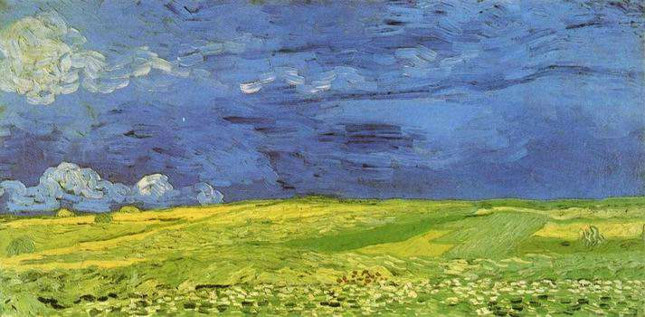 Wheat Field Under Clouded Sky,Auvers sur Oise: July, 1890