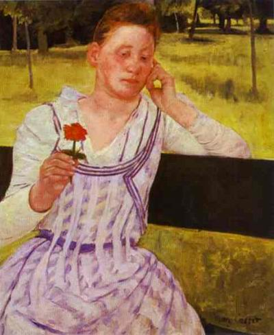 Woman with a Red Zinnia. 1891