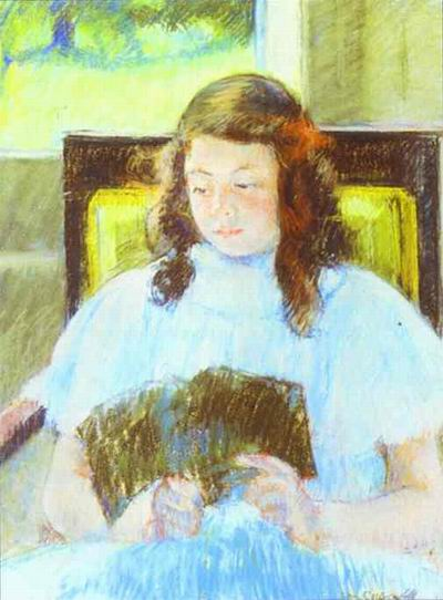 Young Girl Reading. c.1908