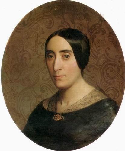 A Portrait of Amelina Dufaud Bouguereau, 1850