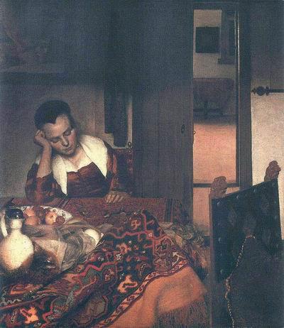 A woman asleep,1657