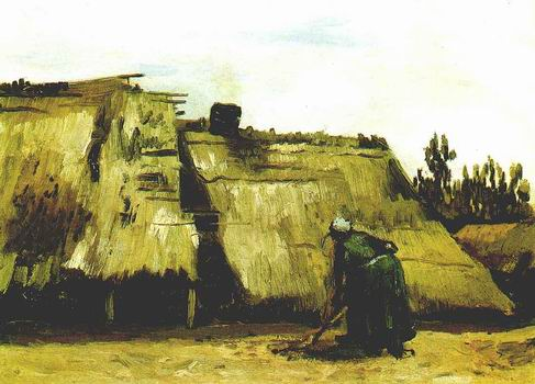 Peasant Woman Digging in Front of Her Cottage,Nuenen: June, 1885