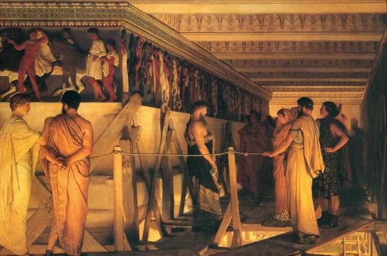 Phidias showing the frieze of the Parthenon