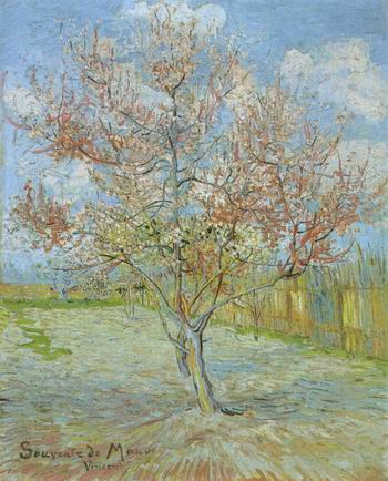 Pink Peach Tree in Blossom (Reminiscence of Mauve),Arles: March, 1888