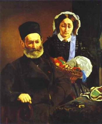 Portrait of M. and Mme. Auguste Manet. 1860
