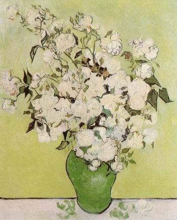 Still Life: Pink Roses in a Vase,Saint R