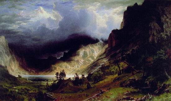 Storm in the Rocky Mountains