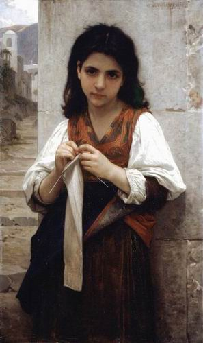 Tricoteuse (The Little Knitter). 1879