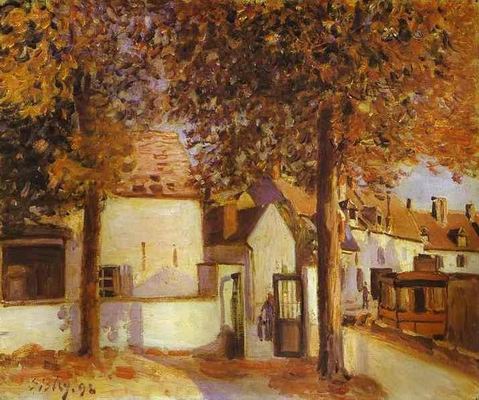 View in Moret (rue des Fosses). 1892