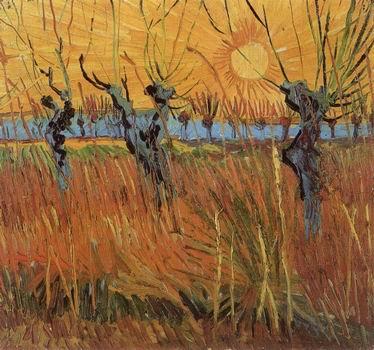 Willows at Sunset,Arles: Autumn, 1888