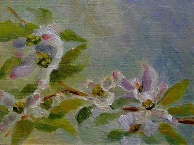 Impressionist flower painting dogwood blossoms impressionism oil