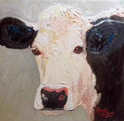 Black and White Irish Cow