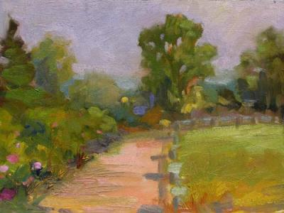 Morning Path Daily Impressionist Painting