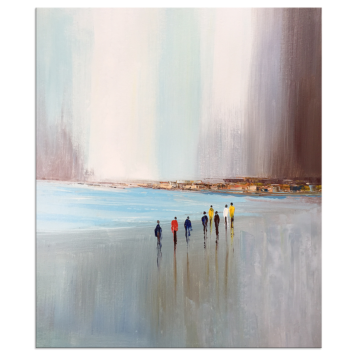 Oil Paintings Hand Painted on Canvas Wall Art Modern Contemporary Abstract Landscape Seaside Artwork