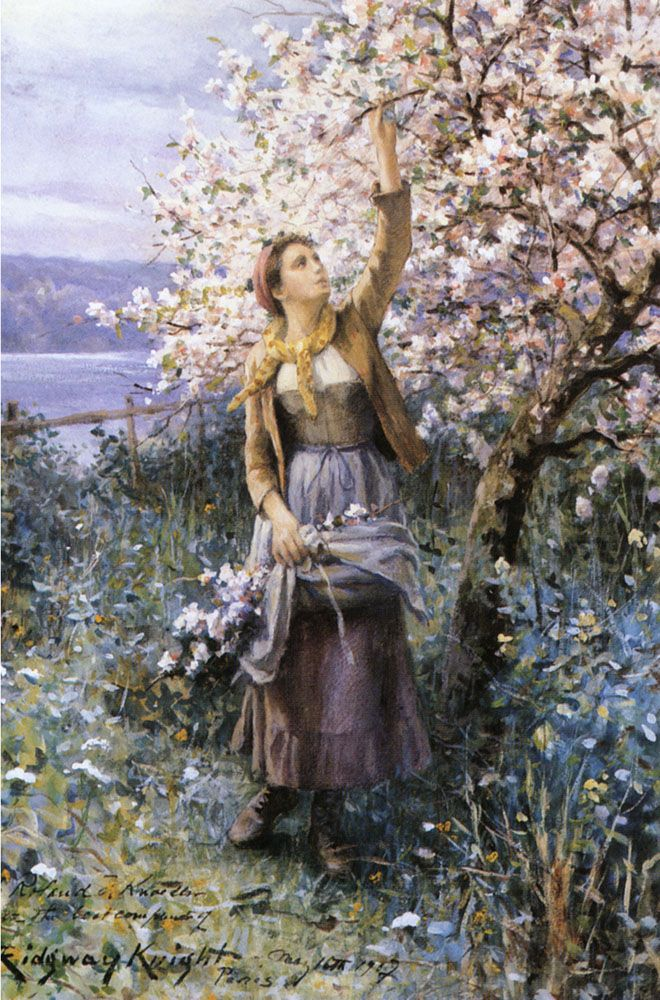 Gathering Apple Blossoms