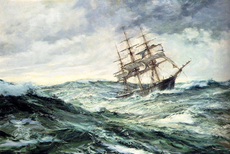 A Ship In Stormy Seas