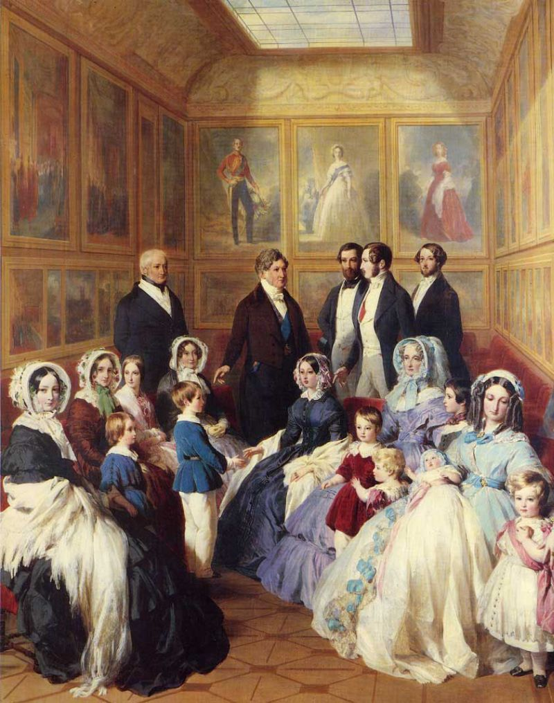 Queen Victoria and Prince Albert with the Family of King Louis Philippe at the Chateau D'Eu
