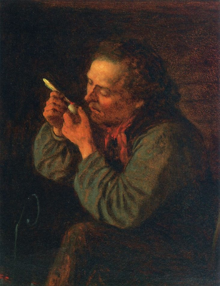 Lighting His Pipe