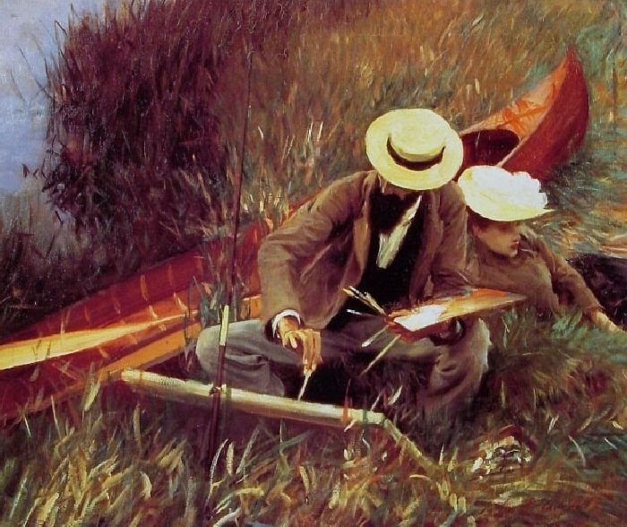 Paul Helleu Sketching with his Wife