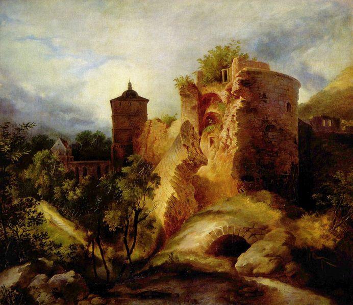The Blown Tower of Heidelberg Castle