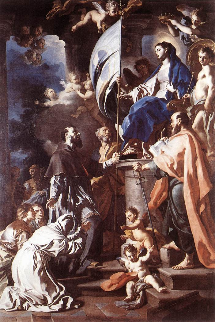 Saint Bonaventura Receiving the Banner of Saint Sepulchre from the Madonna