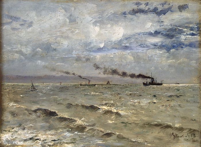 Sea View with Ships