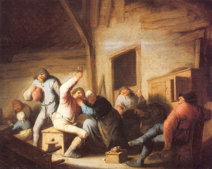 Peasants Making Merry In A Tavern