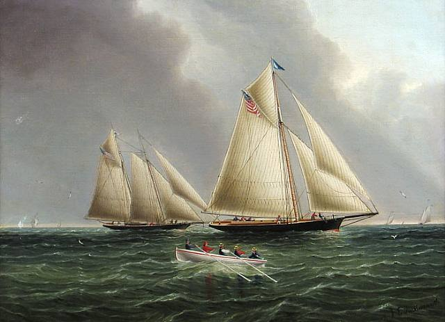 American Racing Yachts Off The East End Of Long Island