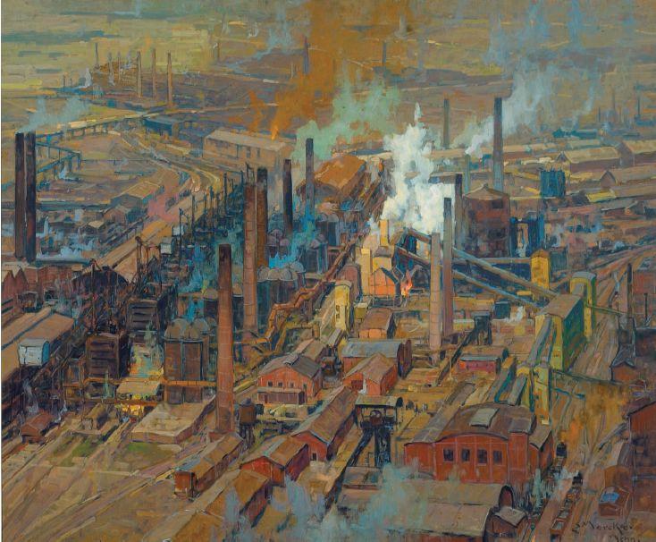 Bird's Eye View of Large Steel Mills