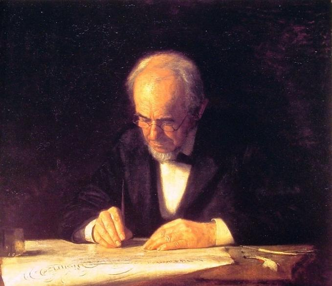 The Writing Master, Portrait of the Artist's Father