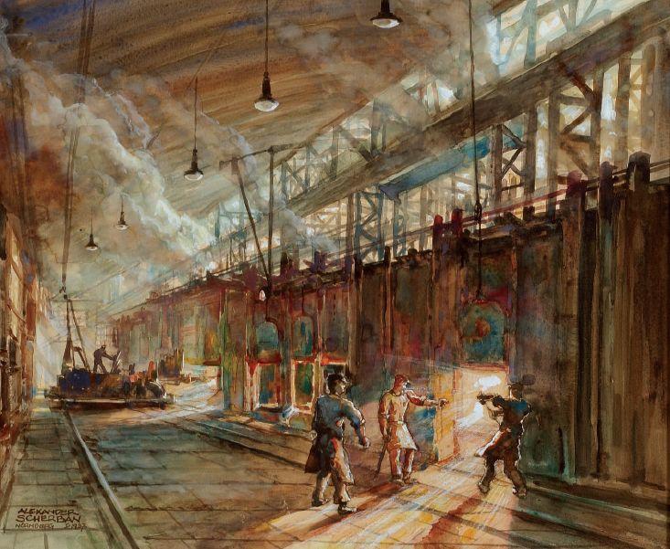 Open Hearth Steel Mill
