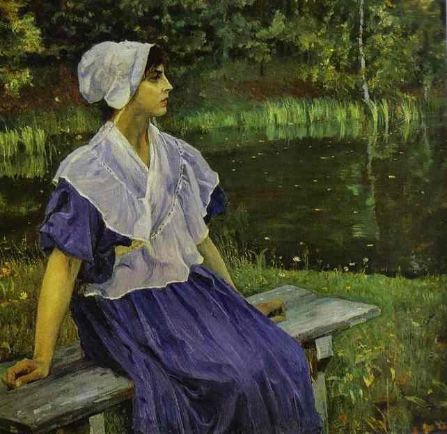 Girl By A Pond, Portrait Of Natalia Nesterova