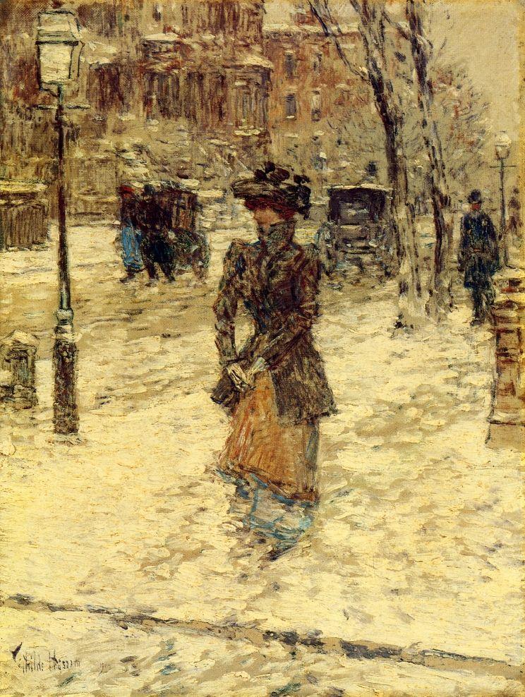 Lady Walking Down Fifth Avenue