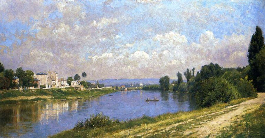 The Seine at la Garenne Saint Denis